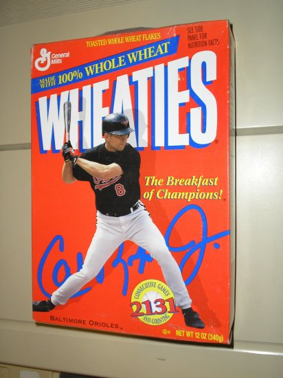 1995 Cal Ripken Jr. Wheaties Box..Hall of Fame Inductee
