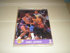 1990 Hoops Action Photos Magic Johnson 8 x 10