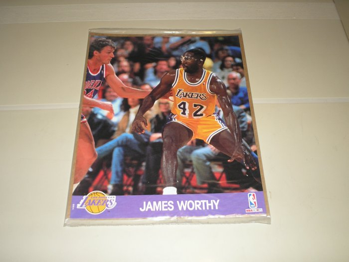 1990 Hoops Action Photos James Worthy 8 x 10