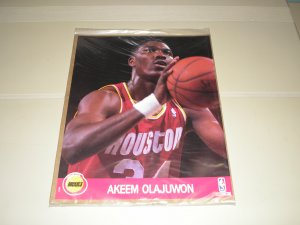 1990 Hoops Action Photos Akeem Olajuwon 8 x 10