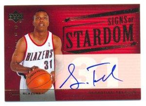 2005 UD Trilogy Signs Of Stardom Sebastian Telfair Autograph Card