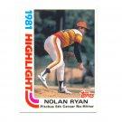 1982 Topps #5 Nolan Ryan