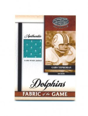 2008 Leaf Certified Materials Fabric of the Game Garo Yepremian