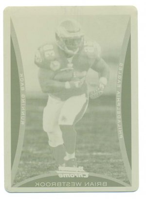 2008 Bowman Chrome Card #BC142 Brian Westbrook Yellow Printing Plate 1 of 1
