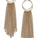 CHAIN FRINGE HOOP EARRINGS