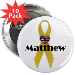 "Custom (Yellow Ribbon) 2.25"" Button (10 pack)"