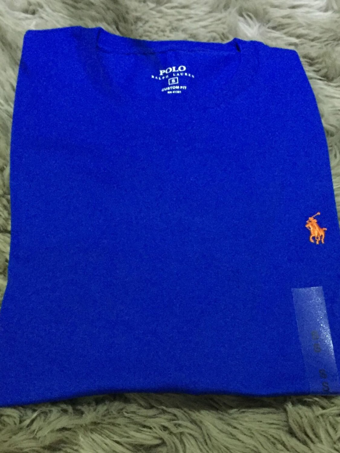 Ralph Lauren Polo Men's Crew Neck Custom Fit T-Shirt Long Sleeve