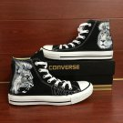 Custom Converse All Star Lion Hand Painted Shoes High Top Black Canvas Sneakers Men Women Gifts