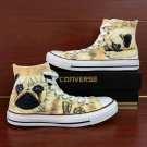 Custom Converse Chuck Taylor Hand Painted Shoes Pet Dog Pug High Top Canvas Sneakers Unique Gifts