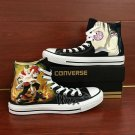 Custom Shoes Converse All Star Gaara Naruto Sebastian Black Butler Hand Painted Canvas Sneakers