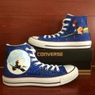 Hand Painted Shoes Kiki's Delivery Service High Top Converse All Star Canvas Sneakers Gifts
