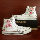 Floral Shoes Custom Converse Original Design Hand Painted Shoes White Canvas Sneakers Gifts