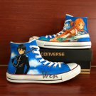 Converse Chuck Taylor Sword Art Online Hand Painted Shoes High Top Canvas Sneakers Gifts