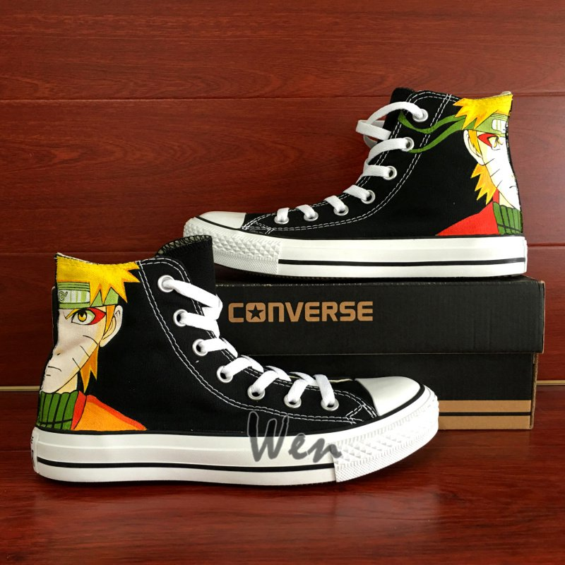 Naruto Anime Converse Chuck Taylor Custom Hand Painted Shoes Canvas Sneakers Unique Presents