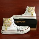 Custom Hand Painted Converse Shoes Reindeer High Top White Canvas Sneakers Gifts for Men Women