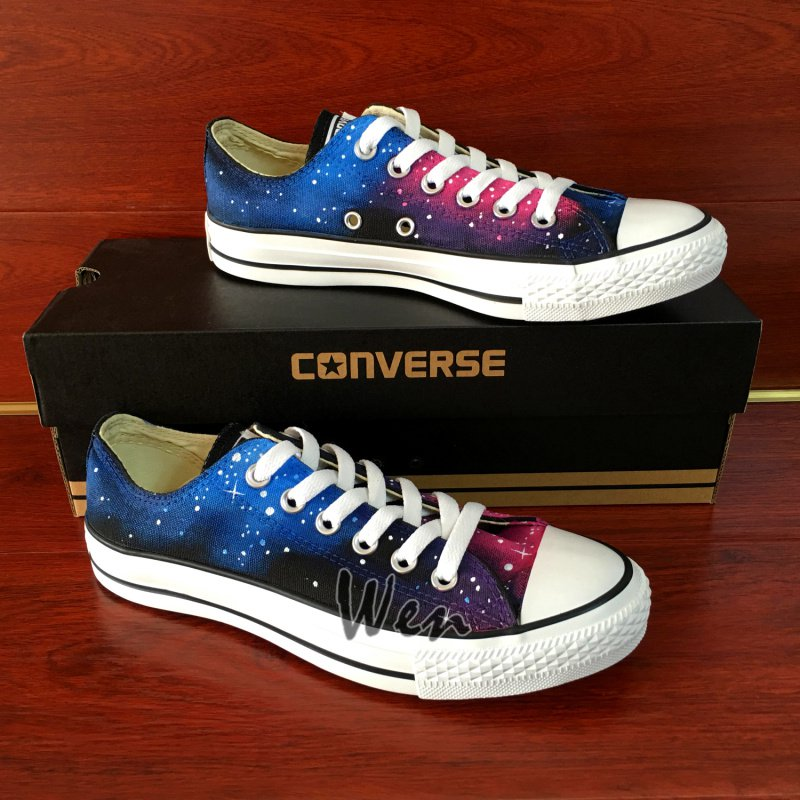 Low Top Galaxy Converse Hand Painted Canvas Shoes Fashion Sneakers Christmas Gifts Men Women