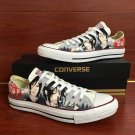 White Low Top Converse Sneakers Black Butler Custom Hand Painted Shoes Canvas Sneakers Gifts