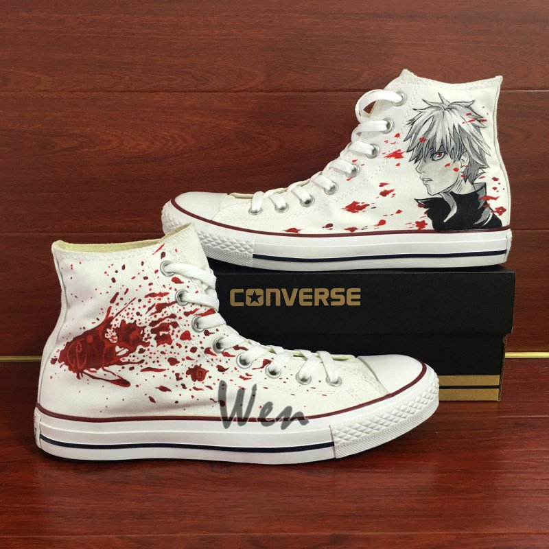 Men Women Unique Converse Shoes Tokyo Ghoul Hand Painted Shoes Fashion Sneakers Gifts