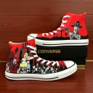 Walking Dead Zombies Hand Painted Converse Shoes High Top Red Canvas Sneakers Unique Gifts