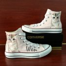 Pet Cat Converse All Star Hand Painted Shoes High Top Canvas Sneakers Women Men Unique Gifts