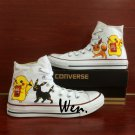 White Converse Chuck Taylor Men Women Pokemon Pikachu Eevee Umbreon Hand Painted Canvas Shoes