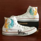 Custom Design Phoenix Shoes Converse Chuck Taylor Men Women Hand Painted Canvas Sneakers