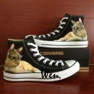 Pet Cat Shoes Hand painted Converse All Star Canvas Sneakers Unique High Top Shoes Men Women