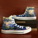 Unique Gifts Men Women Water Lilies Converse All Star Hand Painted Shoes High Top Canvas Sneakers