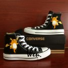 Black High Top Converse Shoes Pokemon Raichu Hand Painted Shoes Canvas Sneakers Gifts Boys Girls