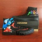 Anime Converse All Star MekakuCity Actors Hand Painted Shoes High Top Black Canvas Shoes Gifts