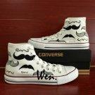 Unique Converse Sneaker Original Design Hand Paninted Shoes Cartoon Moustache Canvas Shoes Gifts