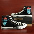 Ape Man Hand Painted Shoes Custom Converse All Star High Top Black Canvas Sneakers Men Women Gifts