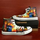 Unique Sneakers Converse All Star Men Women Farewell To Anger Tardis Hand Painted Canvas Shoes