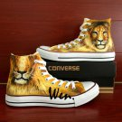 Lion King of the Jungle Converse Shoes Custom Hand Painted Shoes Unique Canvas Sneakers Gifts