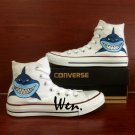 Shark Shoes Converse All Star Hand Painted Canvas Sneakers Boys Girls Fashion Shoes Gifts