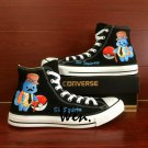 Sir Squirtle Men Women Converse Chuck Taylor Custom Hand Painted Shoes Black Canvas Sneakers