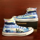 Custom Canvas Sneakers Converse All Star Swan High Top Canvas Sneakers Unique Christmas Gifts