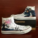 Anime Shoes Converse All Star Guilty Crown Hand Painted Shoes HIgh Top Fashion Sneakers Gifts