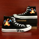 Pokemon Charizard Shoes Converse All Star Hand Painted Canvas Sneakers Birthday Gifts Men Women