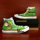 Hand Painted Converse Shoes Neighbor Totoro High Top Canvas Sneakers Men Women Birthday Gifts