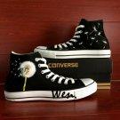 Custom Hand Painted Shoes Dandelion Black Converse Chuck Taylor Men Women Unique Canvas Shoes