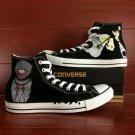 Anime Soul Eater Converse Chuck Taylor Hand Painted Shoes Black High Top Fashion Canvas Sneakers