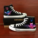 Hand Painted Fairy Tail Happy Cat Galaxy Design Custom Converse Shoes High Top Canvas Sneakers