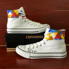 Original Geometric Figure Converse All Star Design Hand Painted Canvas Shoes Unisex Sneakers