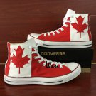 Canada Flag Custom Design Converse All Star Shoes Unisex Hand Painted Canvas Sneakers