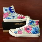 Colorful Floral Converse Shoes Original Design Hand Painted Flower Canvas Sneakers