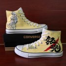 Design Anime Converse Shoes Gintama Hand Painted Canvas Sneakers Unisex Skateboarding Shoes