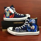 Unisex Converse Design Anime Naruto Hatake Kakashi Hand Painted Canvas Sneakers