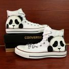 Original Design Cute Panda Hand Painted Shoes Man Woman's Converse All Star