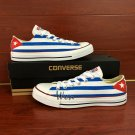 Design Cuba Flag Hand Painted Shoes Low Top Converse All Star Unisex Canvas Sneakers